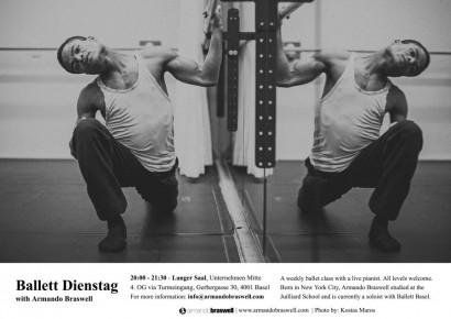 Armando Braswell, Tänzer Ballett Basel, fotografiert im Trainingsraum Theater Basel. Foto kostas Maros