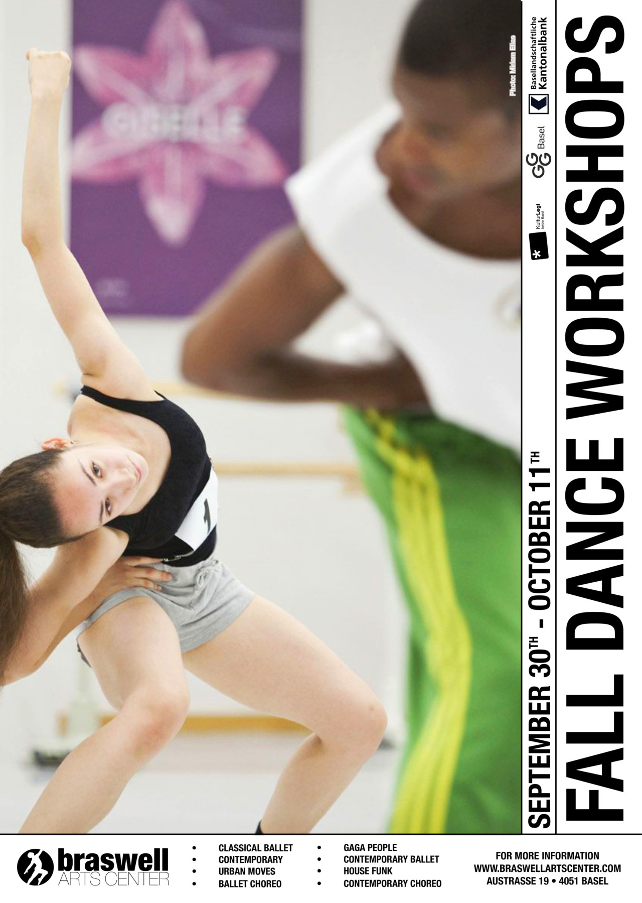 Fall Dance Workshops at Braswell Arts Center